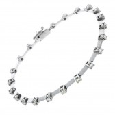 18ct White Gold Diamond Bracelet 1.45ct