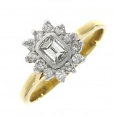 Pre-Owned 18ct Gold Diamond Cluster Ring 0.50ct